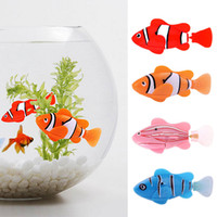 Wholesale Fish Tank Toys - 2017 Funny Swim Electronic Robofish Activated Battery Powered Robo Toy fish Robotic Pet for Fishing Tank Decorating Fish
