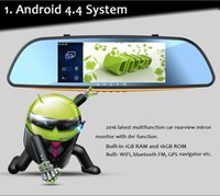 Android 7 '' GPS HD frente e verso DVR Mirror Monitor + Rear View Car Camera