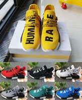 Wholesale People Running - 2017 Williams Pharrell x NMD Human Race People Racing Shoes Yellow Black NMD Human Race runner men women sports running sneakers eur 36-45