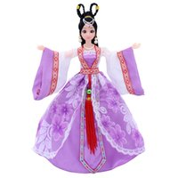 Wholesale Doll Toys Clothes - Pretty Doll Dress Chinese Style Dress Clothes 30cm Barbie Ancient Chinese Clothing Dress Doll Barbie Doll Accessories Baby Gift