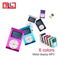 ingrosso carte micro sd 32gb-Mini USB Clip di metallo Musica Lettore MP3 Schermo LCD Lettore MP3 con supporto FM Slot per scheda Micro SD TF da 32 GB