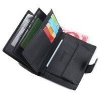 Wholesale Leather Money Bag Wholesale - Wholesale- Slim Designer Luxury Brand Genuine Leather Men Wallet Male Coin Purse Bag Card Holder Money Perse Portomonee Walet Cuzdan Vallet