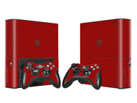 Wholesale Wine Decal Stickers - Cool Wine Red Skin Sticker Vinyl Decals for Xbox 360 E Protective Console Skin+2 Pcs Controller Cover Skin Sticker