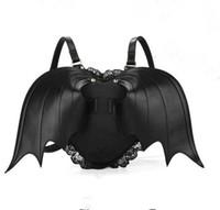 Wholesale Stylish Little Girl - Wholesale- Bat Wing Backpack for Women Punk Stylish Newest School Bag for Girls Bat Bag Angel Wings Backpack Cute Little Devil Package