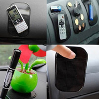 Wholesale magic gel pad phone holder resale online - 4pcs Black Universal Car Magic Sticky Pad Anti Slip Mat Non slip Sticky Car Dashboard Silica Gel Pad for Mobile Phone GPS Holder