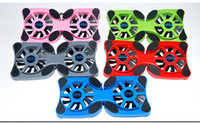 Venda por atacado - Hot New Foldable USB Cooling Fan Mini Octopus Cooler Pad Quiet Stand Double Fans para Notebook Laptop PC