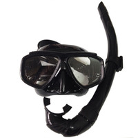 Wholesale Adult Diving Mask - mask snorkel set scuba diving equipment freediving adult Silicone black professional scuba mask for underwater hunting