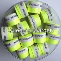 Wholesale high quality tennis grips - Wholesale- (Bright Green)60 pcs Abcyee High quality amboss patternTennis Overgrip sticky feel Tennis Rackets Grips Badminton Overgrip