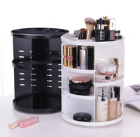 Wholesale Rotating Makeup Organizer Brush Holder Plastic Rack Shelf Desktop Skincare Degree Makeup Organizer Jewelry Storage Box