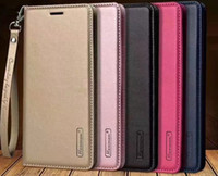 Wholesale samsung note purse - Hanman Genuine Real Leather Wallet Case For iPhone X s Plus SE S For Samsung Note S8 Plus Card Slot Flip Cover Purse Pouch