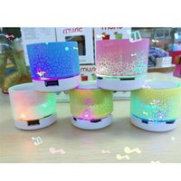 Wholesale Disc Player - Hotsale Mini portable Bluetooth Speaker with LED light can insert U disc mobile phone player with retail box