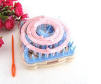 máquina de tricô lã venda por atacado-Hot Home Garden Artes, Artesanato 9 Pcs Knitting Tear Flor Daisy Pattern Maker Lã Fio Agulha de Malha Hobby Tear Knitting Machine Ferramentas de Costura