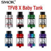 Wholesale Tops M2 - Original Smok TFV8 X-BABY Beast Tank 4.0ml Capacity Top Airflow 510 Thread Atomizer With V8 Baby X Q2 M2 Coils Head 100% Genuine SmokTech