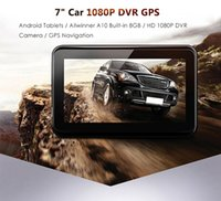 Wholesale Chinese Android Media Player - 7 inch Android 4.0 Quad Core 1080P Car DVR GPS Navigation Recorder FM Transmitter Media Player 8G Internal Memory Support Map 188578001