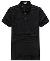 camisas de polo diseñadas al por mayor-De alta calidad de Inglaterra estilo Brit Men Casual camisa de polo de hombre de verano sólido camisas deportivas de algodón sólido Boys Tops Tees London Design Polos