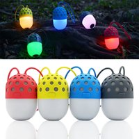 High quality Mini Firefly Waterproof Wireless Bluetooth Speakers Portable Colorful LED Light Glowworm Alto-falantes DHL grátis