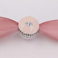 kek takılar toptan satış-Otantik 925 Gümüş Boncuklar Mutlu Doğum Günü Pastası Charms Avrupa Pandora Stil Takı Bilezikler Kolye Uyar 792061ENMX