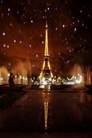 Wholesale 5x7ft Vinyl Digital Eiffel Tower Fountain Paris Photography Studio Backdrop Background