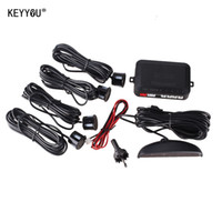 Wholesale Car Reverse Kit - KEYYOU 1Set Car LED Parking Sensor Kit Display 4 Sensors for all cars Reverse Assistance Backup Radar Monitor System