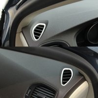 Wholesale Vented Interior Door - Car air conditioning vents decorative frame cover trim Stainless steel air outlet strip interior 3D sticker for Volvo V40