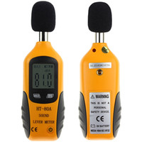 HT-80A Mini portatile Dimensioni livello digitale LCD Sound Meter Screen Display rumore del tester di decibel del rumore del monitor del tester di pressione