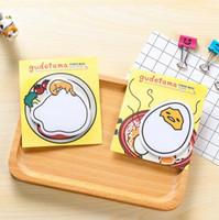mensaje de dibujos animados al por mayor-Al por mayor-1pack / lot Cute Cartoon Gudetama mensaje Bloc de notas Lazy Egg Sticky note Blocs de notas Bloc de notas Escritura cojín escuela suministros escolares