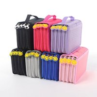 wholesale 72 holders 4 layers pencil case cute smile face handle pencils bag oxford cloth estojo de lapis school papelaria tools gift in bulk price