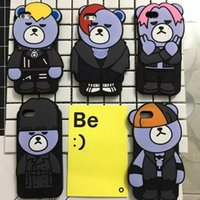 Wholesale Korea Wholesalers Phones - Korea 3D funny Cartoon krunk YGBear Soft Silicone phone Case cover for apple iPhone 6 6s 7 plus
