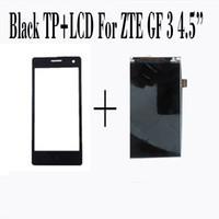 ingrosso pannello lame zte-All'ingrosso-100% nuovo touch screen + display LCD per ZTE Blade GF3 4.5 '' Screen Digitizer Glass Sensor Panel Black Smartphone Repairtment