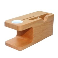 Wholesale I Phone Holders - 100% Bamboo Wooden Charging Dock Stand Phone Holder For All APPLE iPhone 7 7S 6 6S PLUS 5 5s i Watches