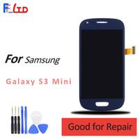 галактика s3 мини-сенсорный экран lcd оптовых-Оригинальный AAA+ + + для Samsung Galaxy S3 Mini i8190 ЖК-дисплей Digitizer сенсорный экран заменить темно-синий белый Ассамблеи 100% тестирование
