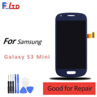 Wholesale lcd screen galaxy s3 mini - Original AAA+++ for Samsung Galaxy S3 Mini i8190 LCD Digitizer Display Touch Screen Replace Dark Blue White Assembly 100% Tested
