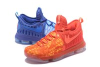 Wholesale Kevin Durant Orange Trainers Low Cut - Kevin Durant KD IX Fire Ice Mens Zoom Basketball Shoes Adult Brand 9s Christmas Day Rio night Sport Trainer Sneakers 40-46 Free Shipping