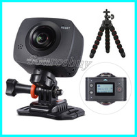 Wholesale Fishing Roller - Panoview Dual-lens 360 Camera 1920*1080P HD Panoramic VR Camera Camcoeder with 220 Degree Fish Eyes Lens Video Wifi App Action Sport Cameras