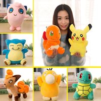 Wholesale 13 Designs Plush Toys Pikacho Dolls Animals Soft Stuffed Dolls baby toys Great Christmas Gift cm DHL Free