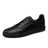 Wholesale Casual Shoes Cowhide Driving - Hollow Out Breathable Men Shoes Cowhide New Summer Pu Leather Driving Shoes Men High Quality Fashion Casual Flat Shoes CDH688-1