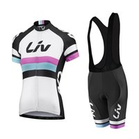 Wholesale Womens White Lycra Cycling Shorts - 2017 liv cycling jersey gel bib shorts Ropa Ciclismo breathable pro mtb bike sportswear womens summer bicycle Maillot Culotte C2505