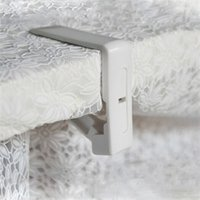 Grossiste-Blanc Plastique Table Cloth Cover Clips Cover Clamp Desk Tissu Support Printemps Chargé Nappe Clip Party Pique-nique Fournitures EJ673910