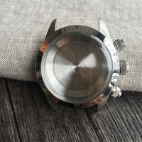 Wholesale DIY Watch Case Kit for Valjoux Movement DT Lug mm with Stainless Steel Silvery Bezel
