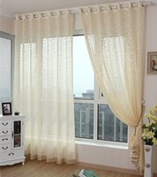 Wholesale White Fringe Curtains - New arrival Luxury Tulle Without Fringe Sheer Curtains Organza Voile for Living Room Window trimming White Pink Beige  Violet