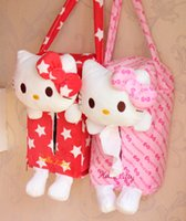 Wholesale Korean Car Cover - Wholesale- New Rectangle Cute Hello kitty Home Office Car Tissue Box Cover Holder Paper Box