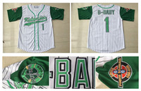 Wholesale Sew Embroidery Patches - Jarius G-Baby Evans 1 Kekambas Baseball Jersey Includes Patch 8 Kofi Evans Stitched Sewn-Green Hardball ARCHA Patch Embroidery Jerseys