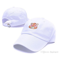 Wholesale Weird Hats - 2017 new Tan Kanye West Graduation College Dropout Bear Dad Hat Cap Never not weird Baseball Cap Hip Hop Summer Snapback men women hat
