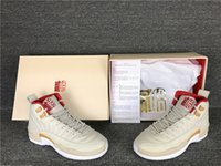 Wholesale Chinese Tassels - Wholesale Air Retro 12 Chinese New Year GS Women Basketball Shoes CNY Real Carbon Fiber For Girl Sports Sneakers With Box size 36-40