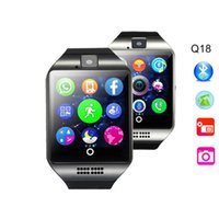 Wholesale Wrist Wach - Smart Watch Q18 Android Sim Card Smartwatch Phone Camera for IOS Android Wear Wach for Men