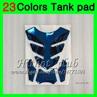 honda cbr gaz tankı pedleri toptan satış-23 Renkler 3D Karbon Fiber Gaz Tank Pad Koruyucu Için HONDA CBR400RR 87 88 89 NC23 CBR400 RR CBR 400RR 400 1987 1988 1989 3D Tank Cap Sticker