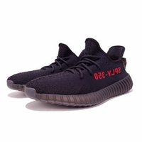 Wholesale Newest Running Shoes - CP9652 Pirate Black Core Black Red Letter SPLY 350 boost V2 2016 Newest Black White Kanye West Boost 350 Running Shoes Grey Orange