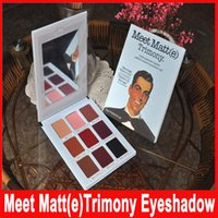 göz paleti mat toptan satış-Marka Meet Matt (e) Trimony Göz Farı 9 renkler Paleti Göz Farı Yüz Bronzlaştırıcı Güzellik Makyaj Comestic