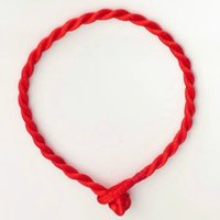 Wholesale Chinese Red String Bracelets - Simple Style Classic Lucky Chinese Braided Red String Rope Cord Bracelet Gift Fashion Women Men Bracelet Jewelry