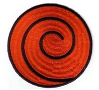Wholesale free rockabilly for sale - NARUTO RED SPIRAL PATCH anime Uniform Patch TV Series punk rockabilly applique sew on iron on patch